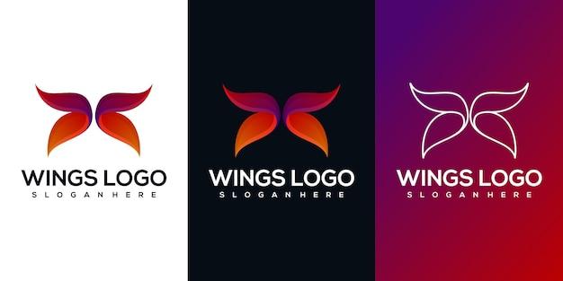 Logotipo abstrato asas