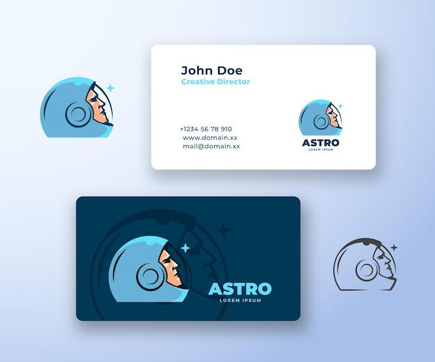 Logotipo abstrato astro e modelo de cartão.