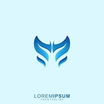 Logotipo abstrato borboleta