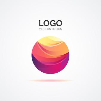 Logotipo abstrato colorido em design moderno