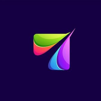 Logotipo abstrato colorido