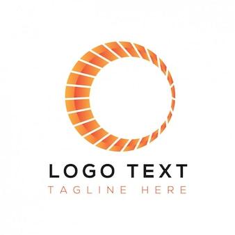 Logotipo abstrato com círculo laranja