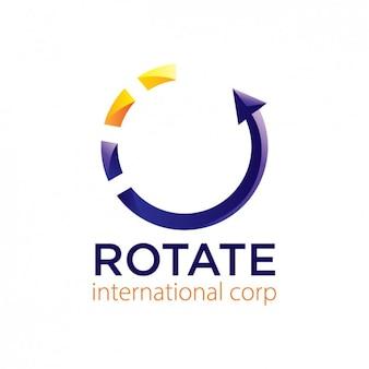 Logotipo abstrato com ícone de carregamento
