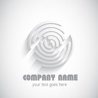 Logotipo abstrato com um design radial