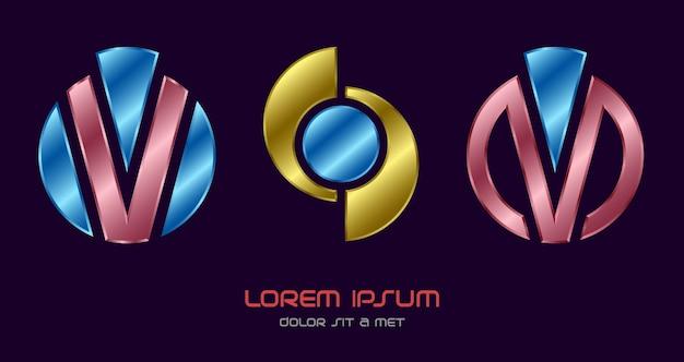 Logotipo abstrato criativo