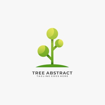 Logotipo abstrato da árvore.