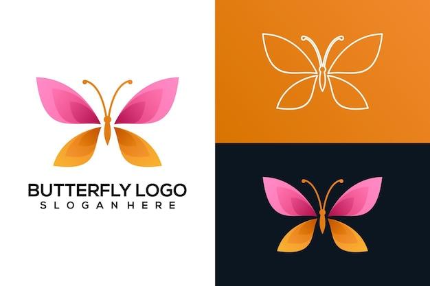 Logotipo abstrato da borboleta