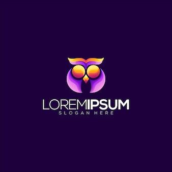 Logotipo abstrato da coruja