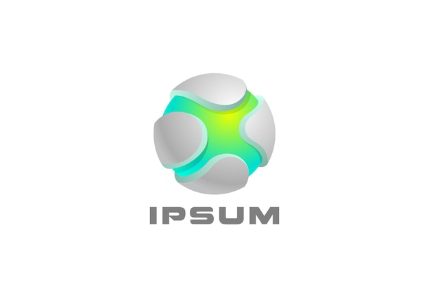 Logotipo abstrato da esfera digital. letra x no logotipo do círculo.