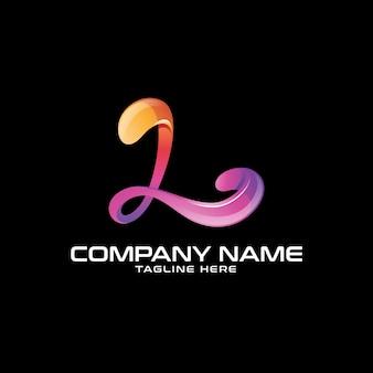 Logotipo abstrato da letra colorida l