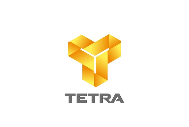 Logotipo abstrato da letra t do triângulo em loop infinito. logotipo de loop infinito de monograma corporativo