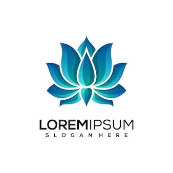 Logotipo abstrato da lotus