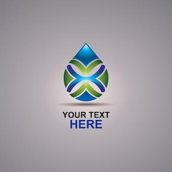 Logotipo abstrato de água