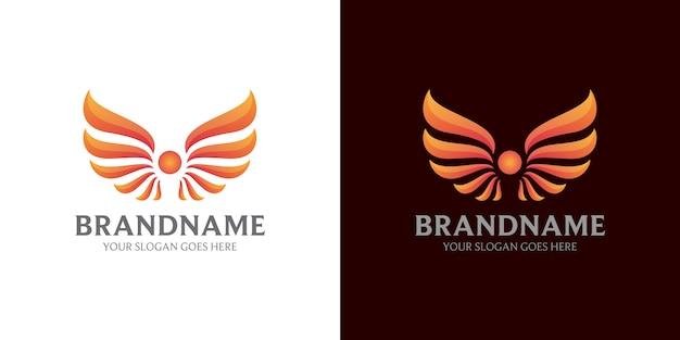 Logotipo abstrato de asa