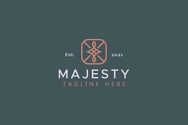 Logotipo abstrato de beleza moderna premium