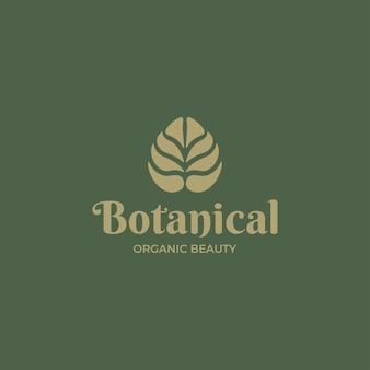 Logotipo abstrato de folha de ouro