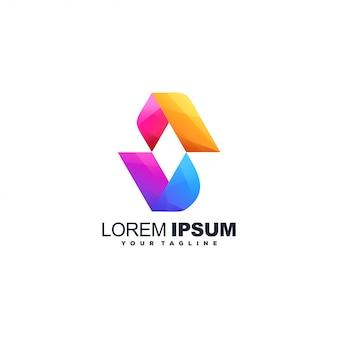Logotipo abstrato de letra s