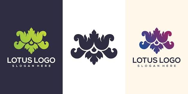 Logotipo abstrato de lótus