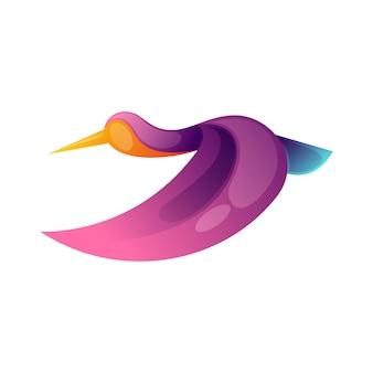 Logotipo abstrato de pássaro moderno