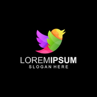 Logotipo abstrato de pássaro