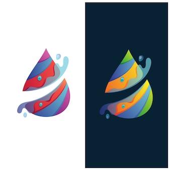 Logotipo abstrato de respingo de água