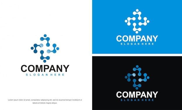 Logotipo abstrato de tecnologia