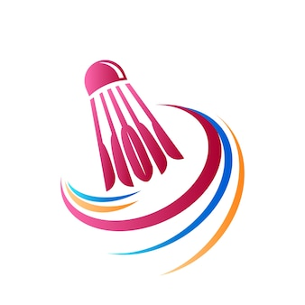 Logotipo abstrato do badminton