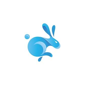Logotipo abstrato do coelho