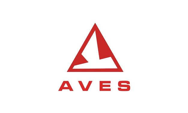 Logotipo abstrato do pássaro / aves para exterior, roupa, avião