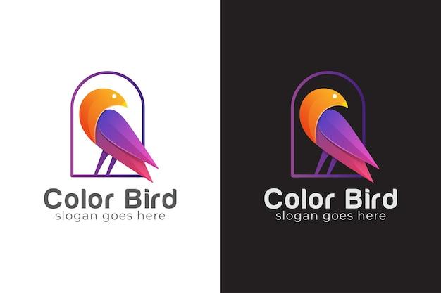 Logotipo abstrato do pássaro, pomba, símbolo do animal de beleza