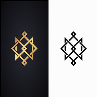 Logotipo abstrato em duas versões