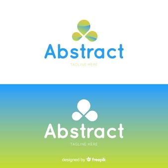 Logotipo abstrato em estilo gradiente