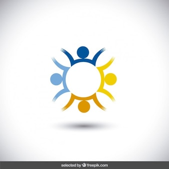 Logotipo abstrato em forma circular