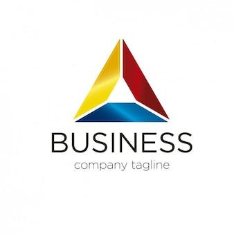 Logotipo abstrato em forma triangular