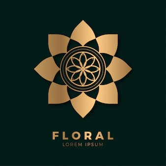 Logotipo abstrato floral luxuoso