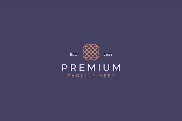 Logotipo abstrato geométrico de luxo premium