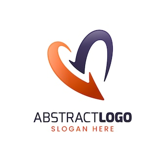 Logotipo abstrato gradiente colorido
