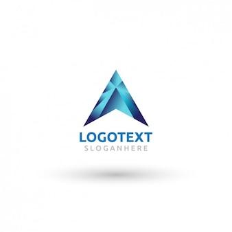 Logotipo abstrato gradiente de letra a