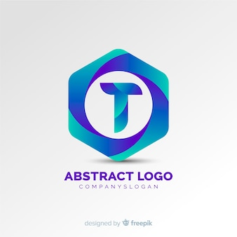 Logotipo abstrato gradiente