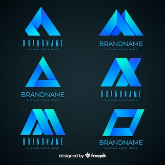 Logotipo abstrato gradiente