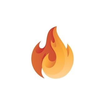 Logotipo abstrato moderno da chama de fogo