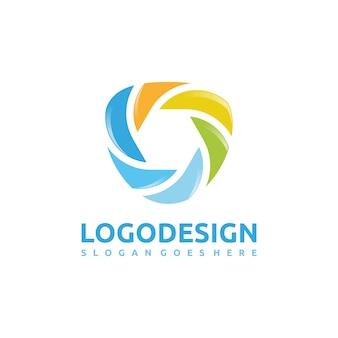 Logotipo abstrato moderno e colorido