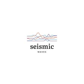 Logotipo abstrato ondas modernas
