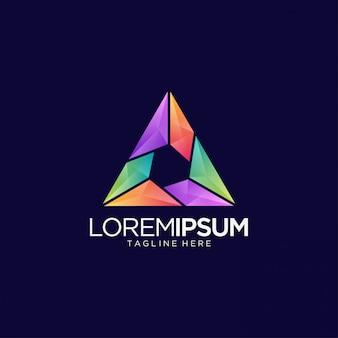 Logotipo abstrato para mídia e entretenimento
