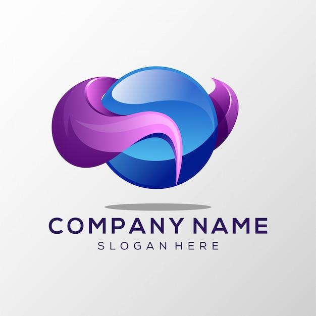 Logotipo abstrato plana
