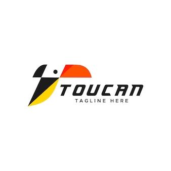 Logotipo abstrato tucano