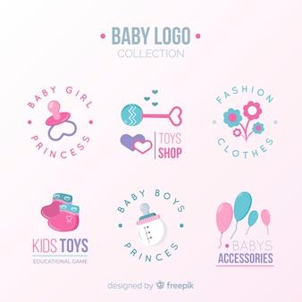 Logotipo adorável bebê com estilo moderno