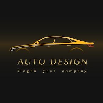 Logotipo amarelo auto empresa.