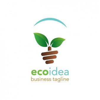 Logotipo amigável eco