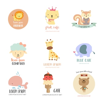 Logotipo animal bonito para loja de criança